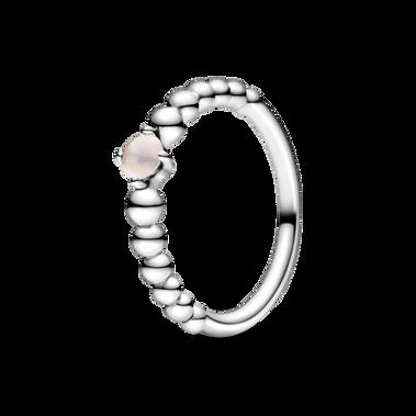 June Misty Rose Beaded Ring