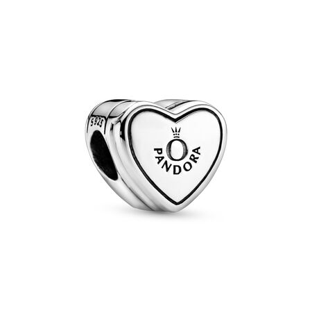 Our Promise Charm, Sterling silver, Cubic Zirconia - PANDORA - #798072CZ