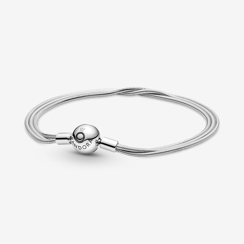 Pandora Moments Multi Snake Chain Bracelet | Sterling silver ...