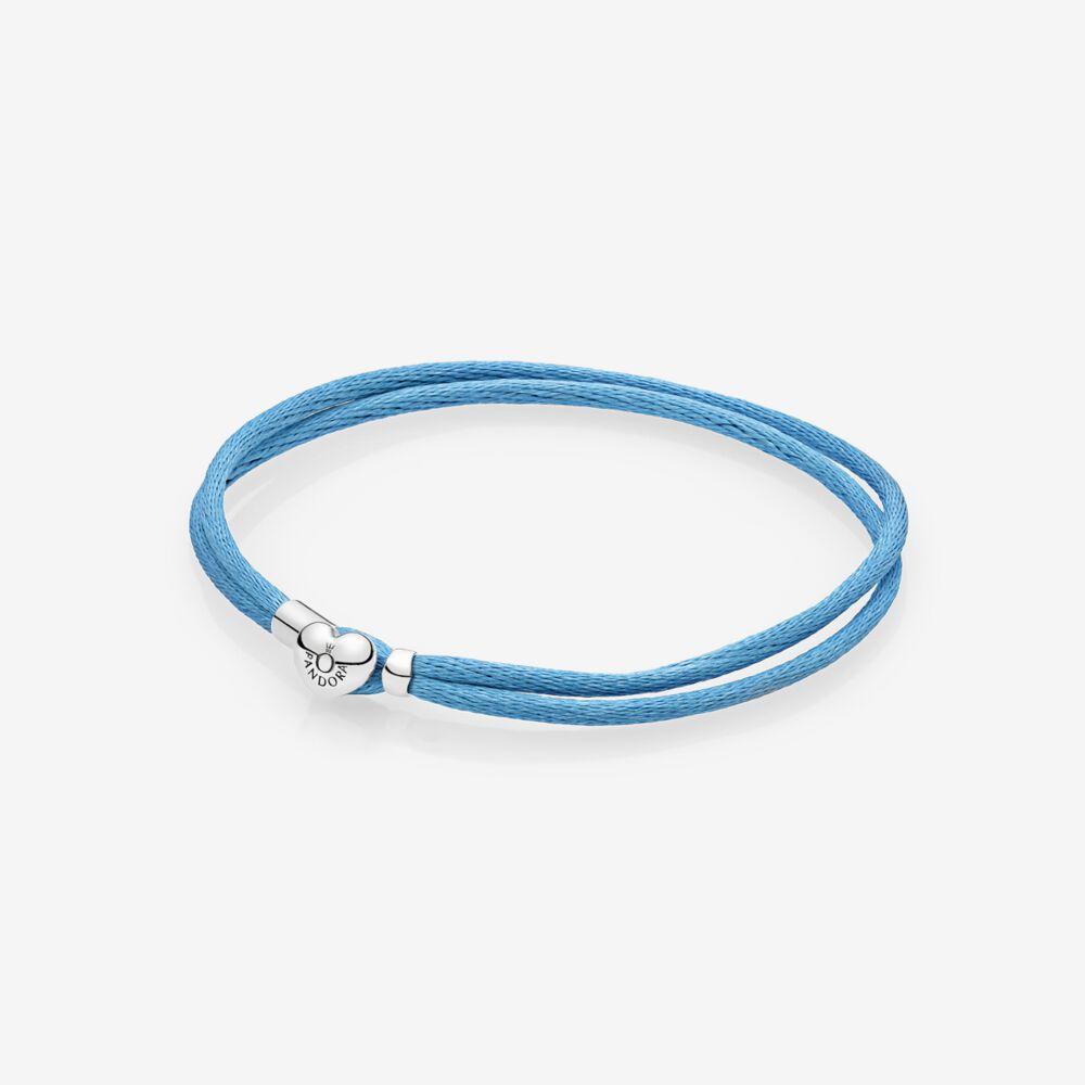 Fabric Cord Bracelet, Turquoise