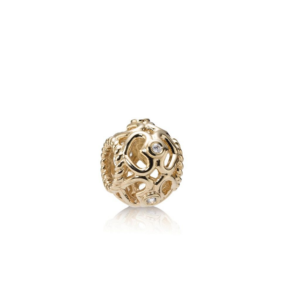 bubble gold charm women diamond pandora and silver image twist