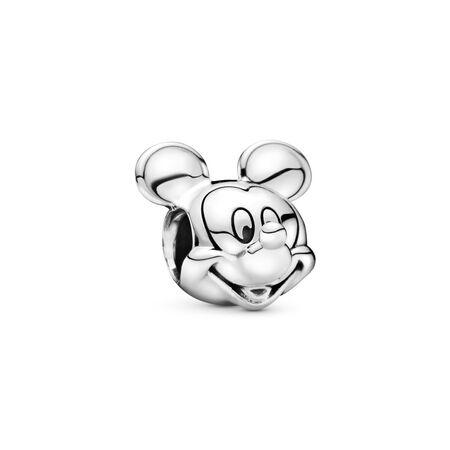 Disney, Mickey Portrait Charm, Sterling silver - PANDORA - #791586