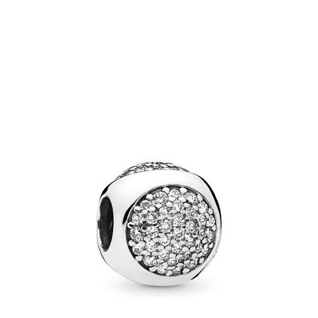 Dazzling Droplet Charm, Clear CZ