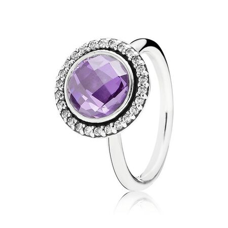 Brilliant Legacy Ring, Purple & Clear CZ