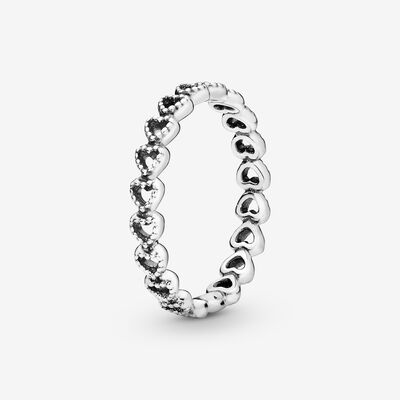 Linked Love Ring in Sterling Silver , Silver
