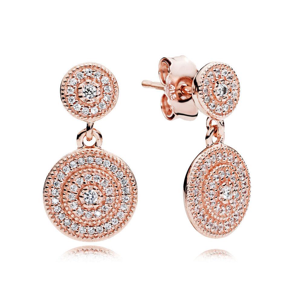 Radiant Elegance Drop Earrings Pandora Rose