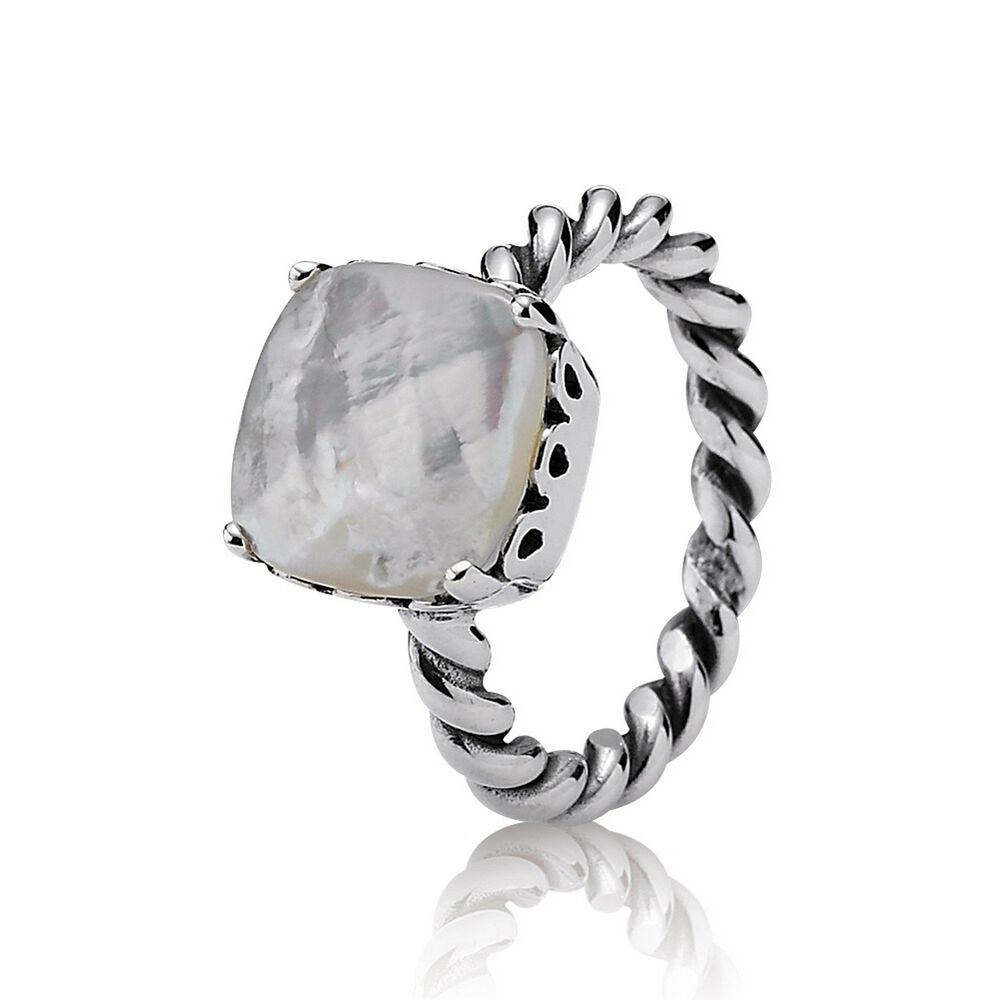 Pandora Mother Of Pearl Ring Size