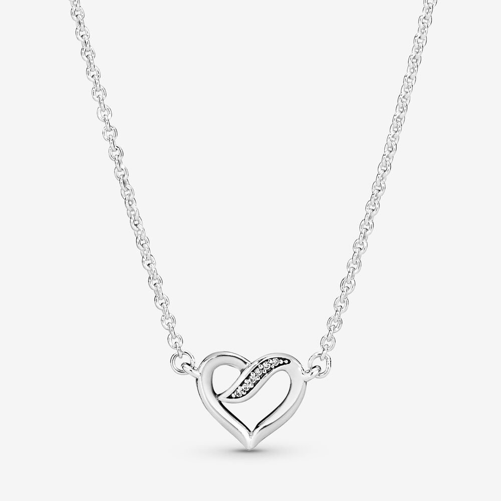 Ribbon Open Heart Necklace