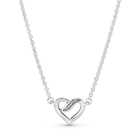 Ribbon Open Heart Necklace
