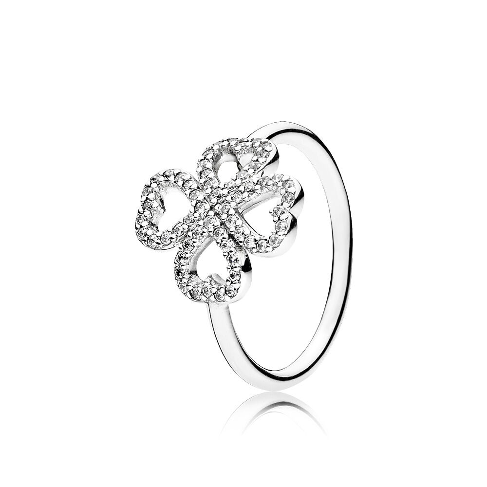Petals Of Love Ring, Clear CZ