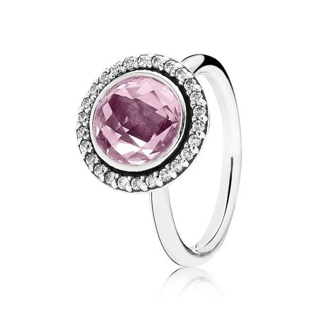 Brilliant Legacy Ring, Pink & Clear CZ