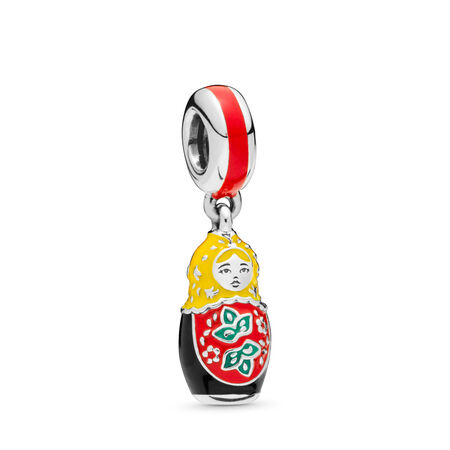 Matryoshka Doll Charm, Mixed Enamel, Sterling silver, Enamel - PANDORA - #797834ENMX