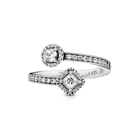 Abstract Elegance Ring, Clear CZ, Sterling silver, Cubic Zirconia - PANDORA - #191031CZ