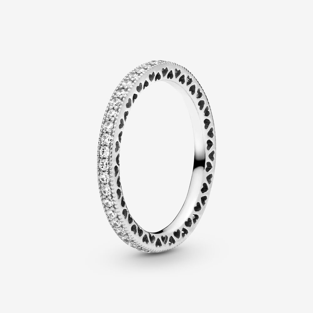 Hearts of Pandora Ring with Cubic Zirconia | Sterling silver ...