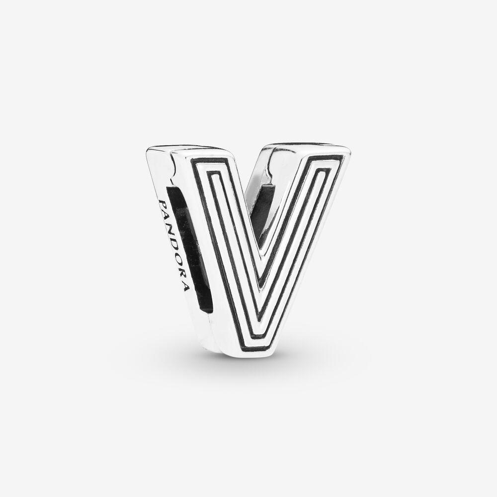 Pandora Reflexions™ Letter V Clip Charm