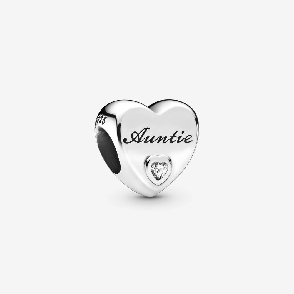 Auntie Love Heart Charm