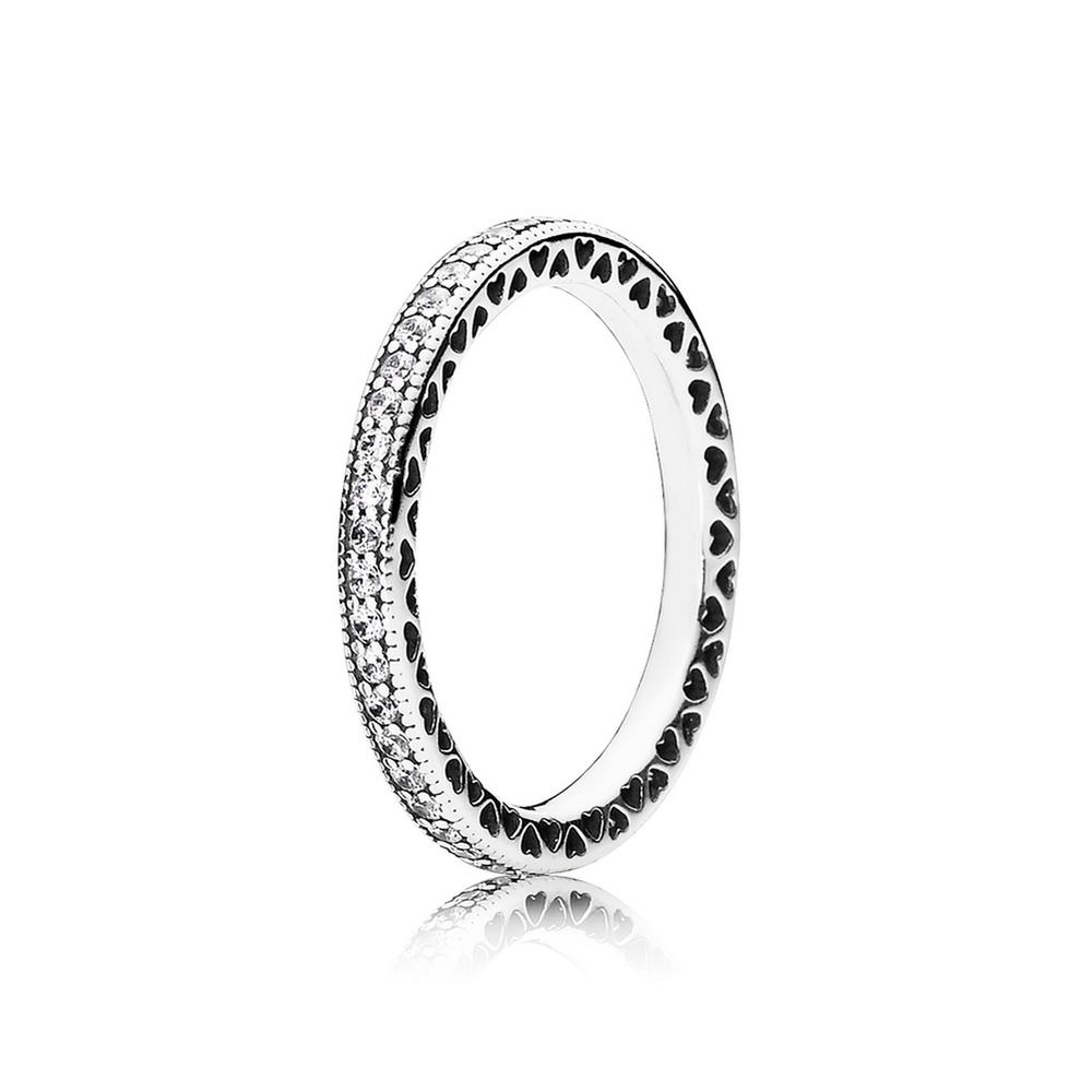 Hearts Of Pandora Ring Clear Cz Pandora Jewelry Us