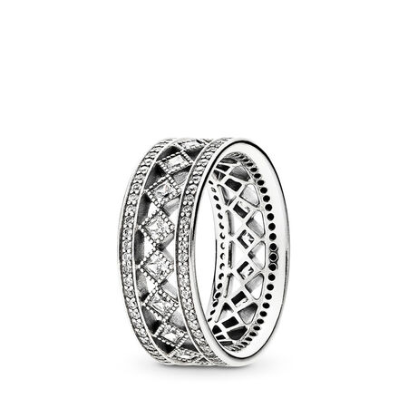 Vintage Fascination Ring, Clear CZ
