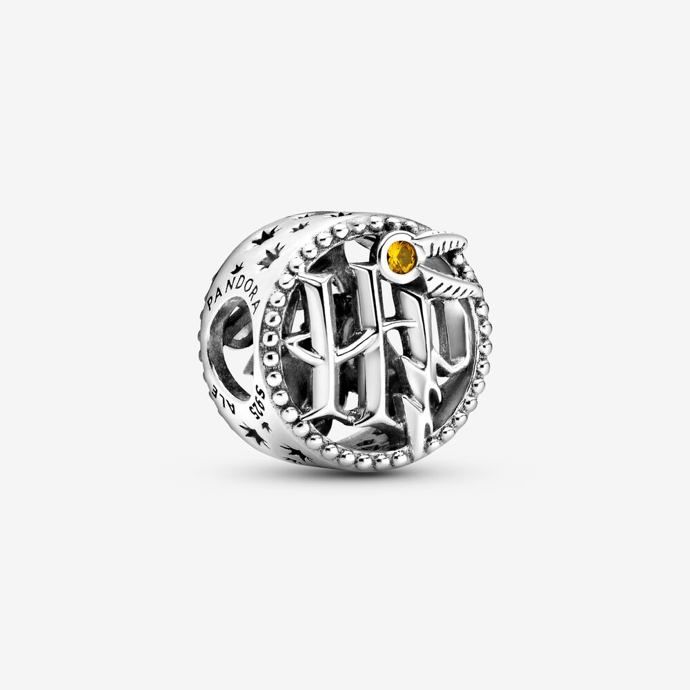 Harry Potter, Openwork Harry Potter Icons Charm | Sterling silver ...