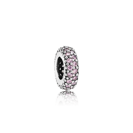 Inspiration Within Spacer, Pink CZ