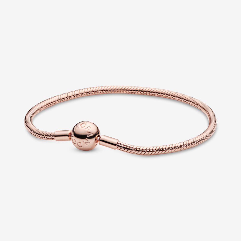 Smooth Pandora Rose™ Clasp Bracelet | Rose gold plated | Pandora US