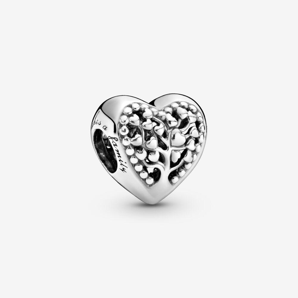 Family Tree Heart Charm | Sterling silver | Pandora US