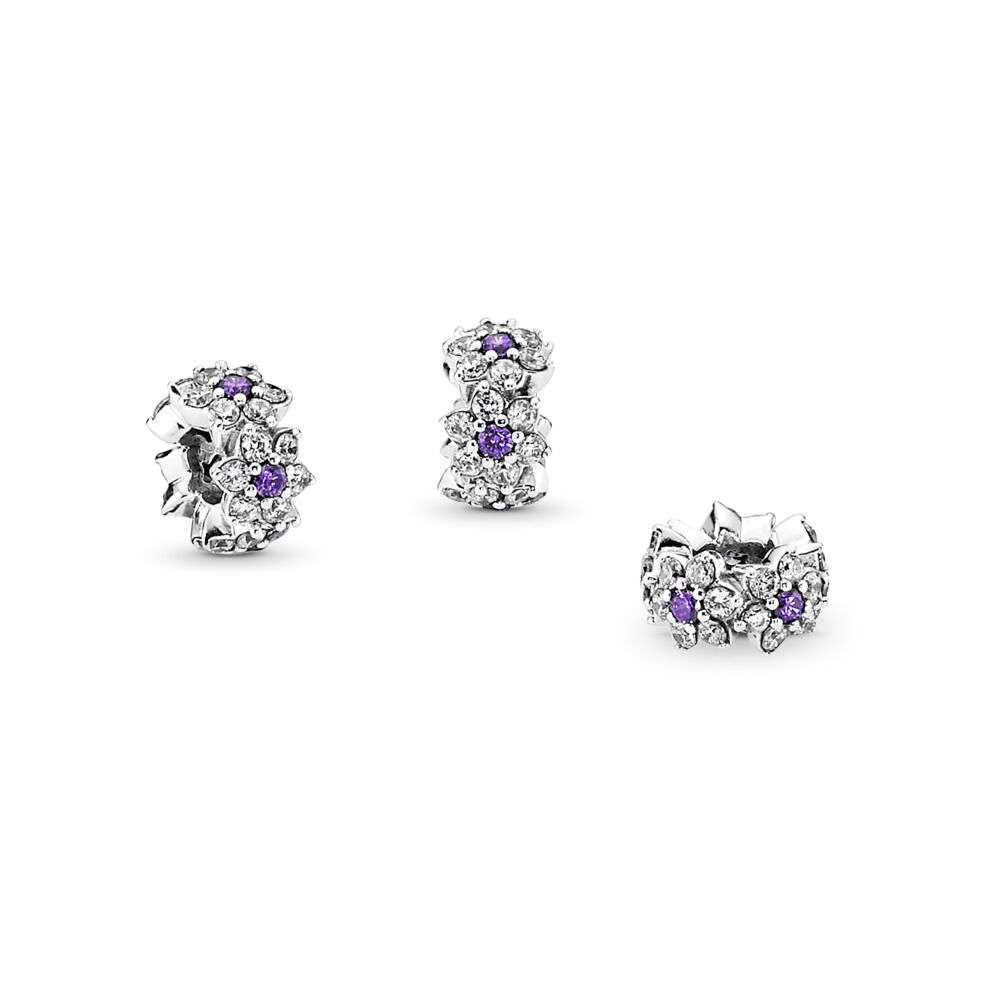cd8545ee8 Forget Me Not Spacer, Purple & Clear CZ