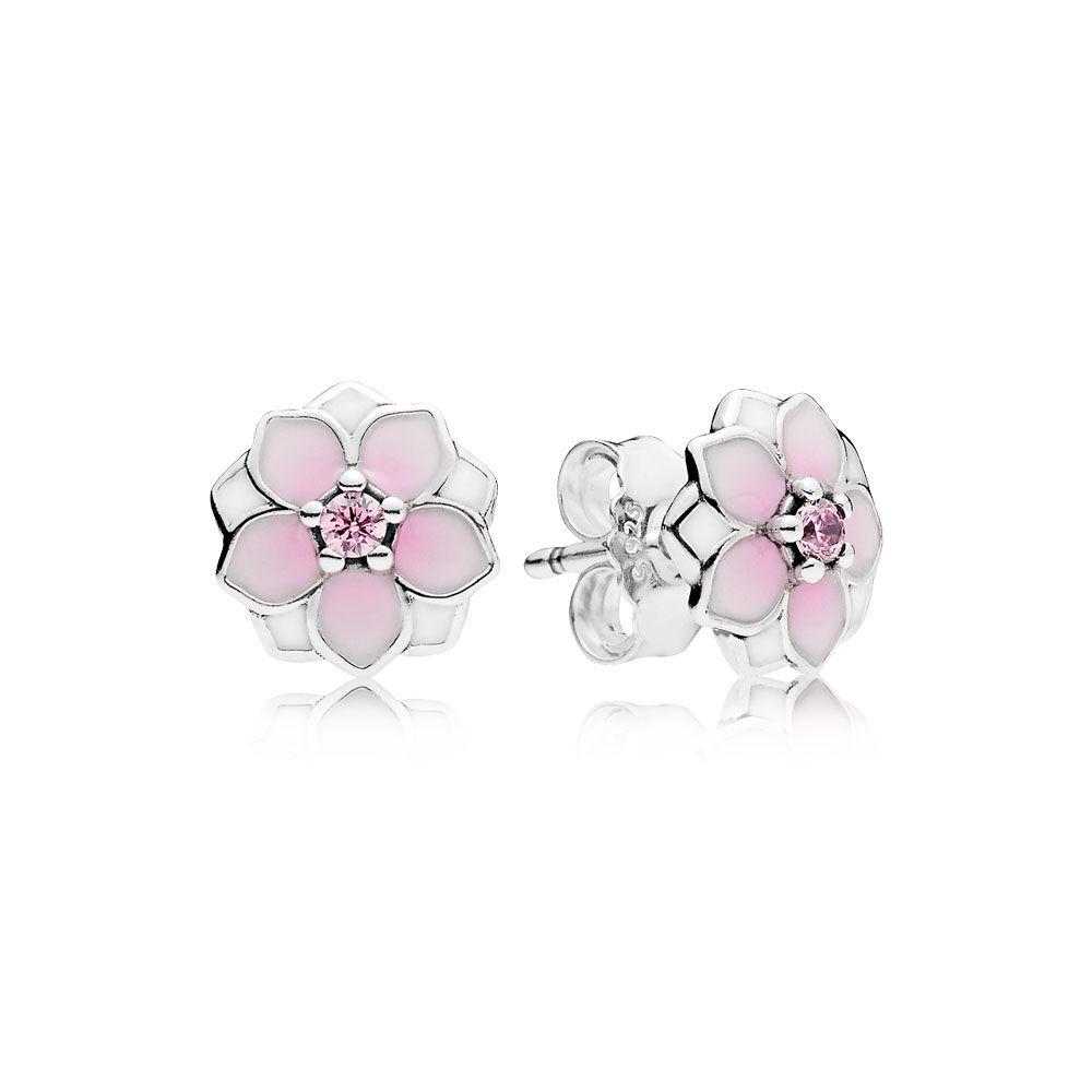 pandora earrings pink