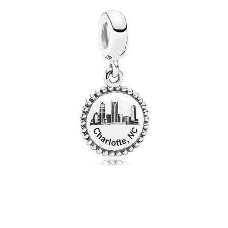 Charlotte Dangle Charm, Black Enamel, Sterling silver - PANDORA - #ENG791169_19