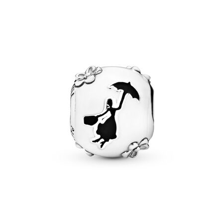 Disney, Mary Poppins' Silhouette Charm, White & Black Enamel