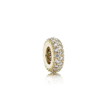 Inspiration Within Spacer, 14K Gold & CZ