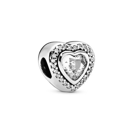 Sparkling Love Charm, Clear CZ