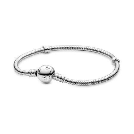 091767ada Disney Moments Sparkling Mickey Mouse & Snake Chain Bracelet Sterling  silver, Cubic Zirconia