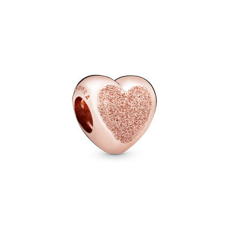 Matte Brilliance Heart Charm, Pandora Rose™