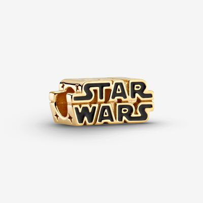 Star Wars Shining 3D Logo Charm , Gold