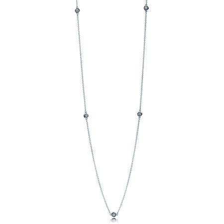 Dazzling Dainty Droplets Necklace, Clear CZ