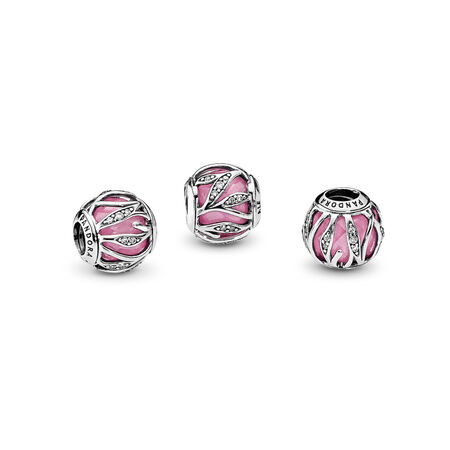 Nature's Radiance, Pink & Clear CZ, Sterling silver, Pink, Cubic Zirconia - PANDORA - #791969PCZ