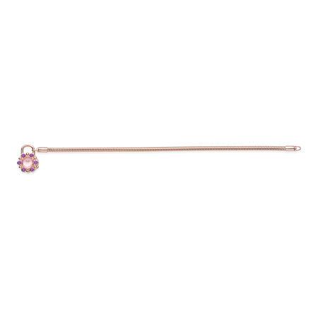 Heraldic Radiance Padlock Bracelet, PANDORA Rose™ & Pink & Purple Crystals, PANDORA Rose, Pink, Crystal - PANDORA - #587635NPM