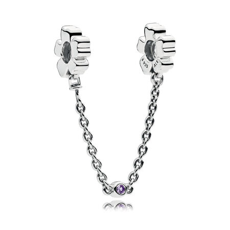 Wildflower Meadow Safety Chain, Royal Purple Crystals