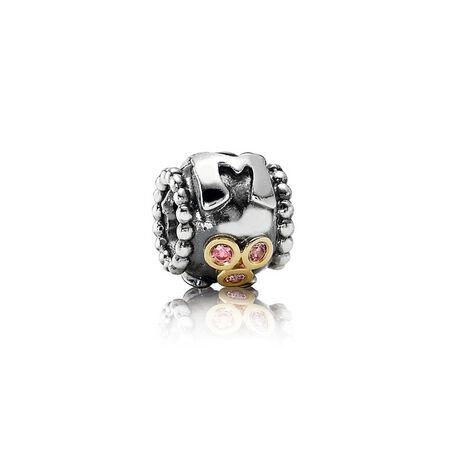 Mom Charm, Fancy Pink CZ