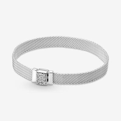 판도라 팔찌 Pandora ReflexionsSparkling Clasp Bracelet , Grey