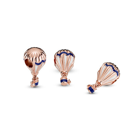 Blue Hot Air Balloon Charm, Pandora Rose™, PANDORA Rose, Enamel, Blue - PANDORA - #788055ENMX
