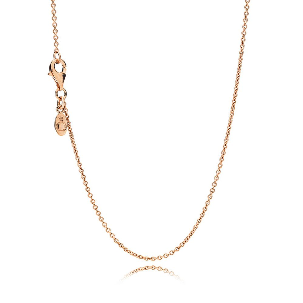 Necklace Chain Sterling Silver 14K Rose Gold PANDORA Je