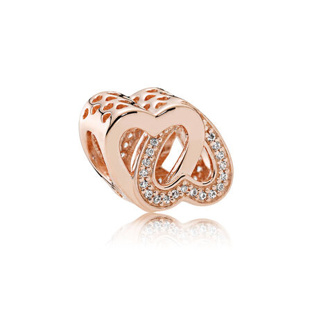 Entwined Love Charm, PANDORA Rose™ & Clear CZ