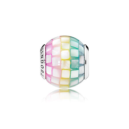 Multi-Color Mosaic Charm, Multi-Colored CZ