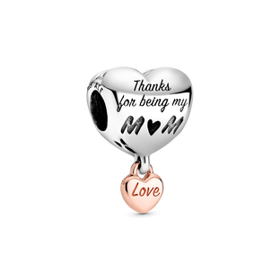 Love You Mom Heart Charm