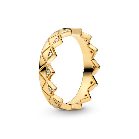 Exotic Crown Ring, Pandora Shine™, 18ct Gold Plated, Cubic Zirconia - PANDORA - #168033CZ