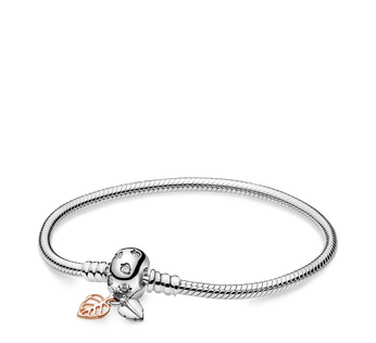 Pandora Moments Leaves & Snake Chain Bracelet