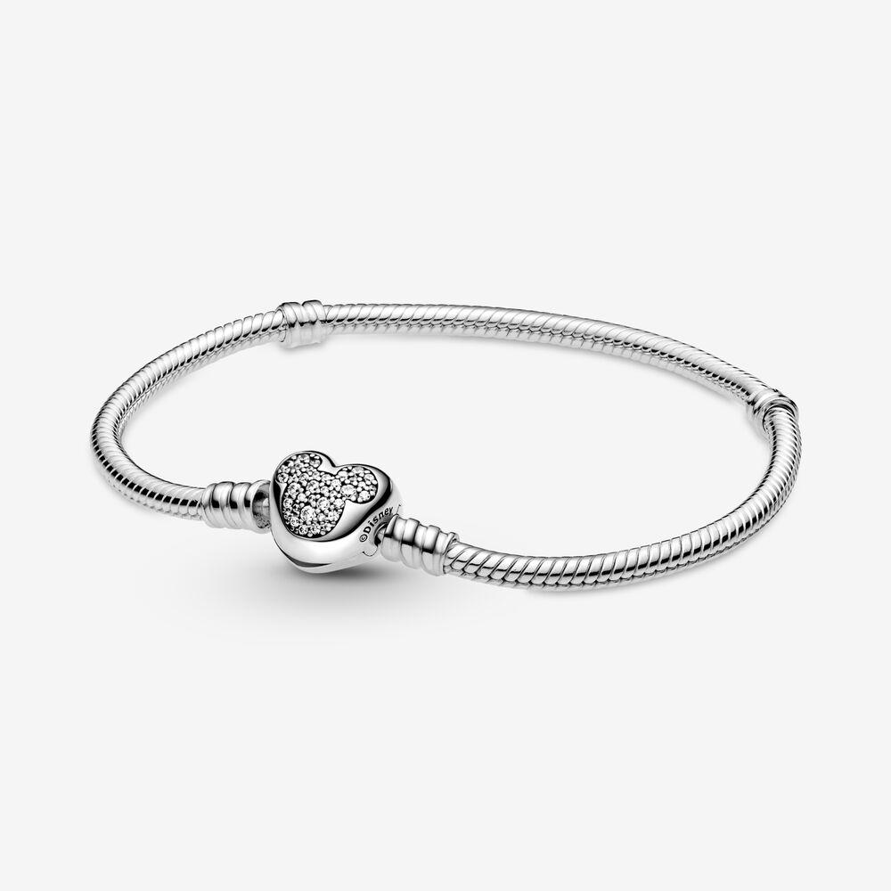 Disney Pandora Moments Mickey Mouse Heart Clasp Snake Chain ...