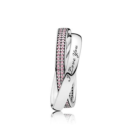 Sweet Promise Ring, Pink CZ